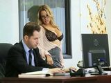Busty MILF Secretary Seducing Boss In Office