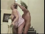 Old Mom Gets Roughened Up By A Neighbor Kid