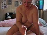 Amateur Granny Gives Handjob