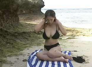This Beach Is No Place For Alone Busty Teen